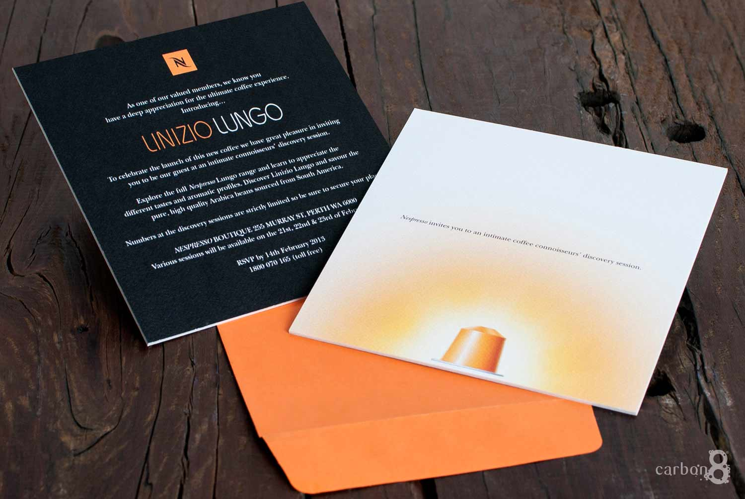 Invitation double fused Nespresso