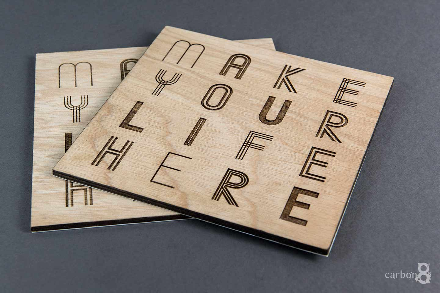 Invitation laser etched Mirvac