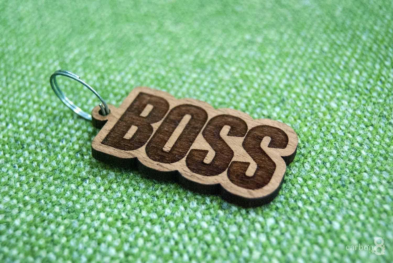 Laser engraved key ring