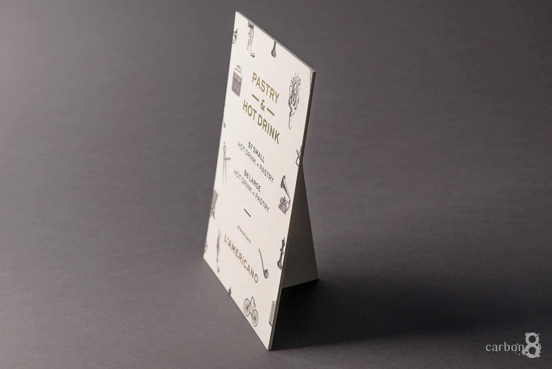 Lamericano foiled strut card side