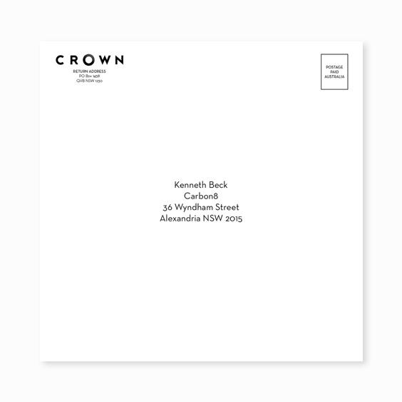 Printed envelope example