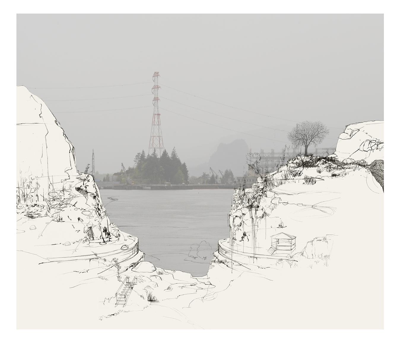 John Holmgren & Nick Conbere mixed-media prints