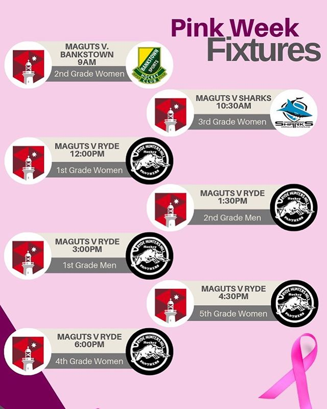 This Sunday 7 July is our annual @mcgrathfoundation Pink Games fundraiser against @rydehockey Let's come out in force and support our teams to victory