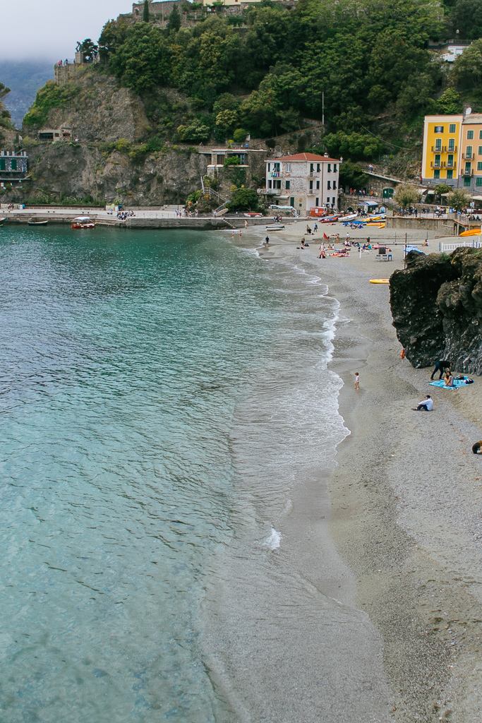Monterosso Beach from the hiking trail