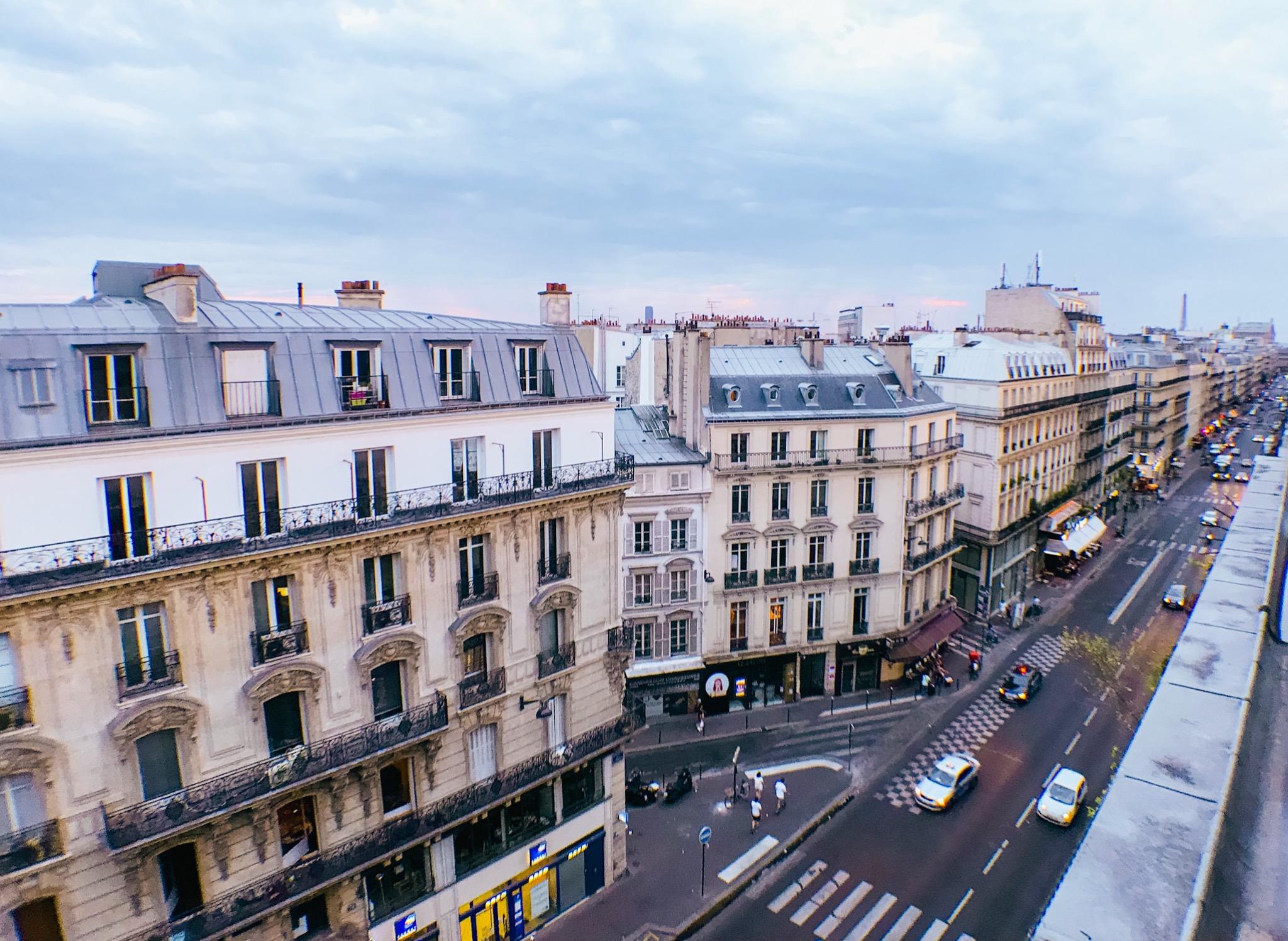 Paris France Rooftop Sunset