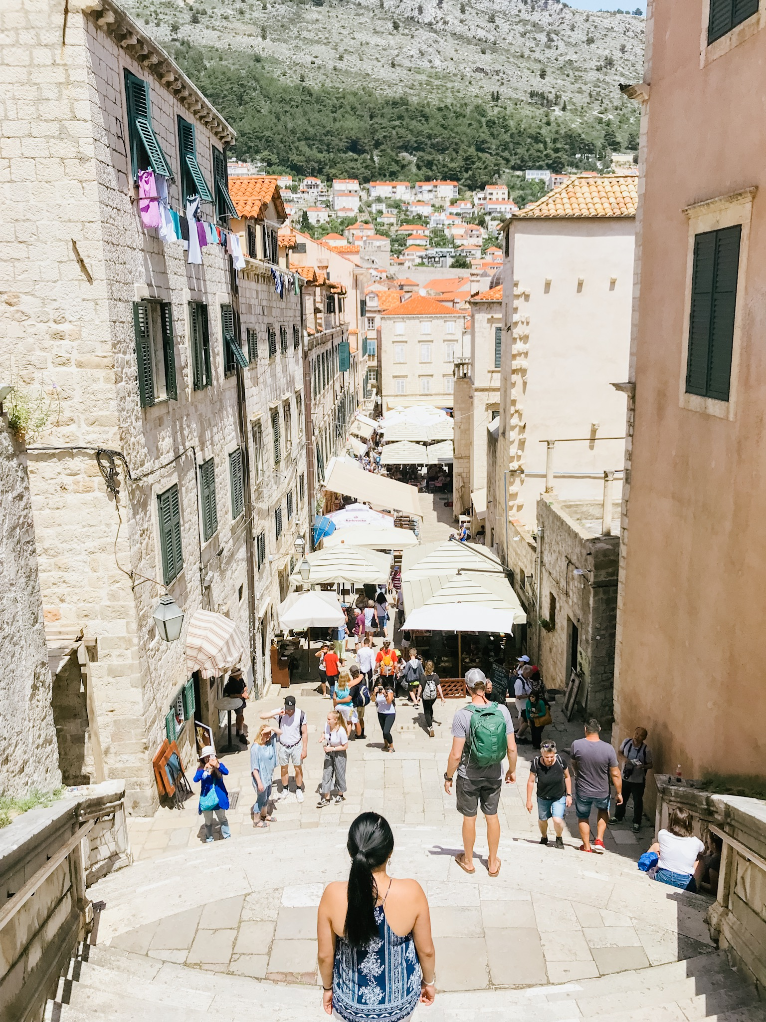 Dubrovnik Old Town Game of Thrones stairs