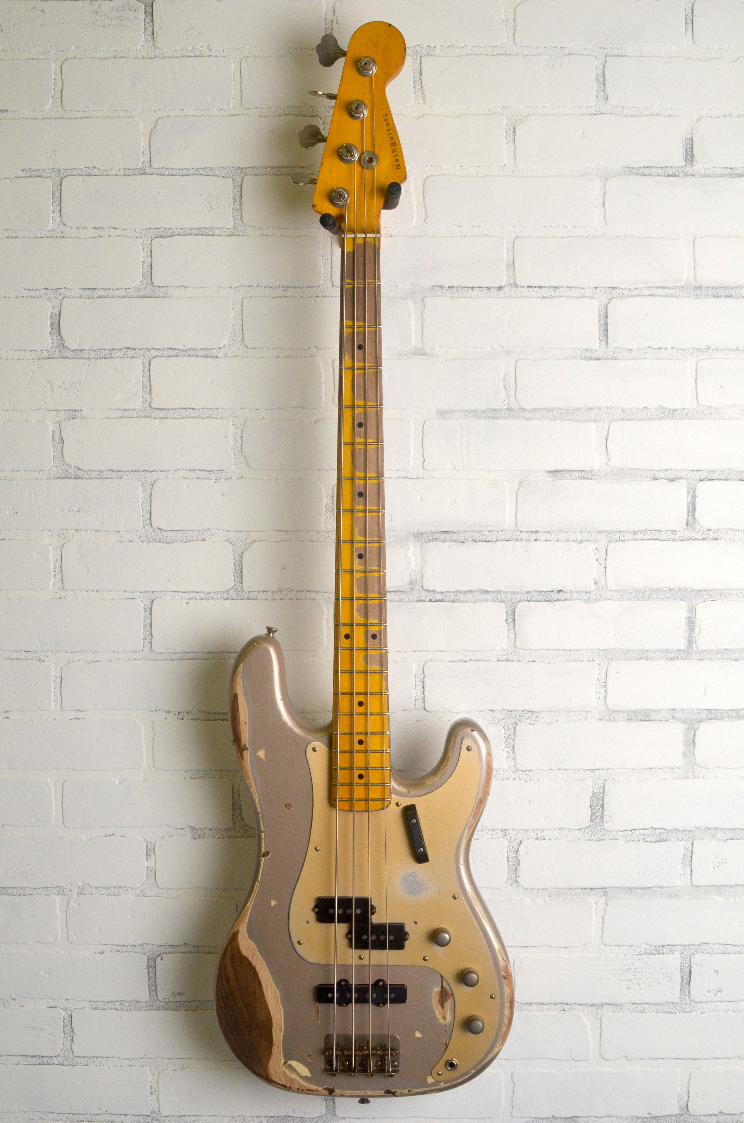 Shoreline Gold on Ash - Added J Pickup  Anodized Gold Guard  Heavy Aging