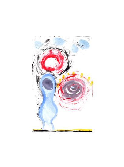 "Untitled, 2006, monoprint , 29 ½"" x 22"""