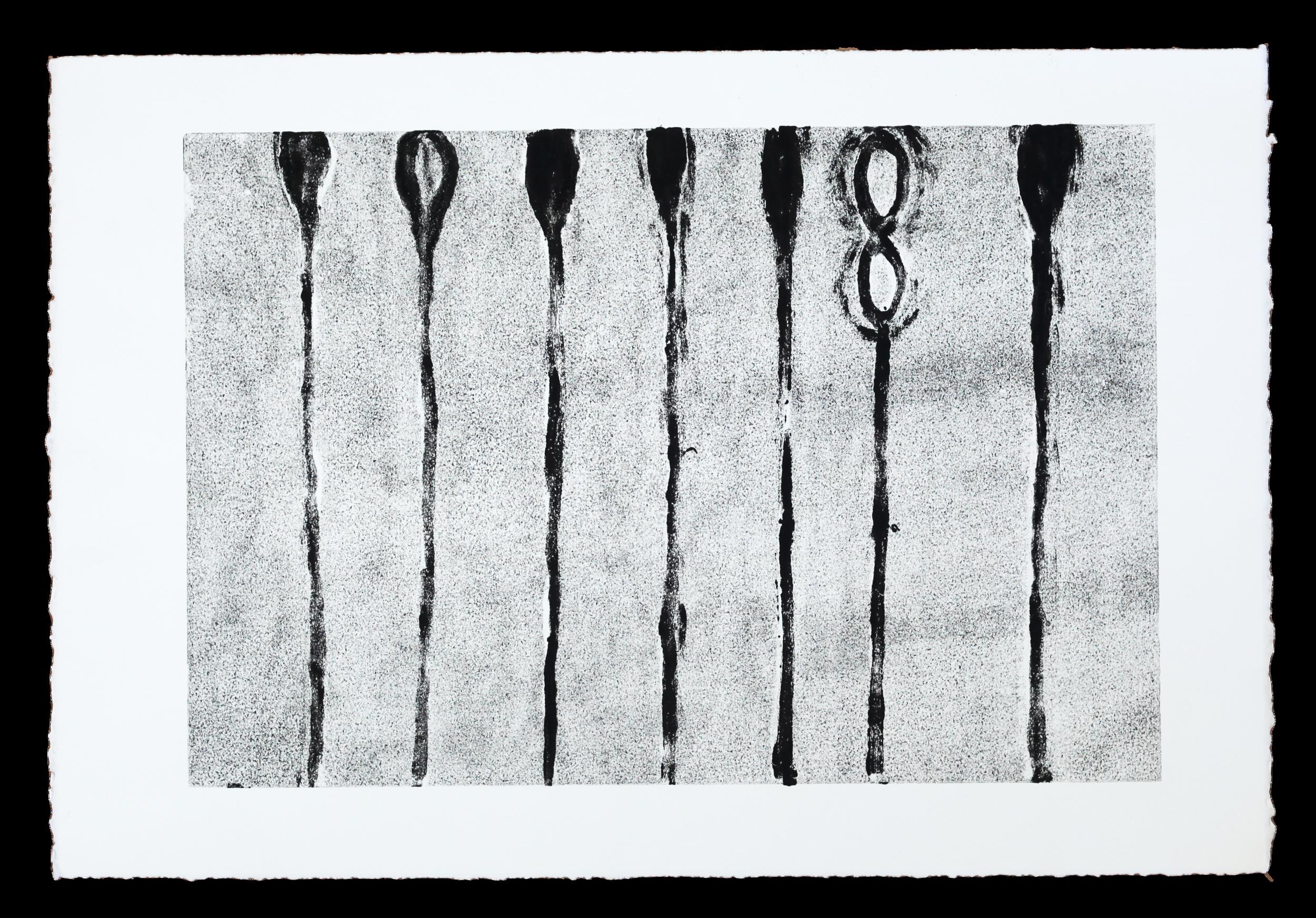 "Untitled   22""x15""   2012   monoprint"