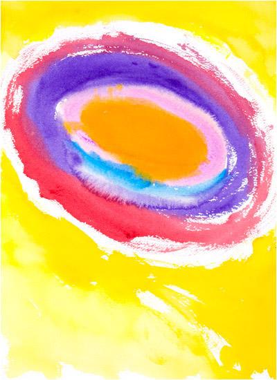 """The Sun, 2002, watercolor, 14"""" x 10 ¼"""""""