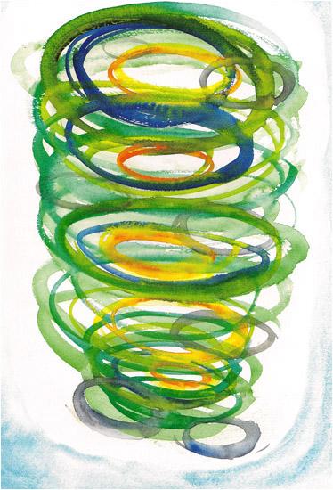 """Genesis, 2002, watercolor, 14"""" x 10 ¼"""""""