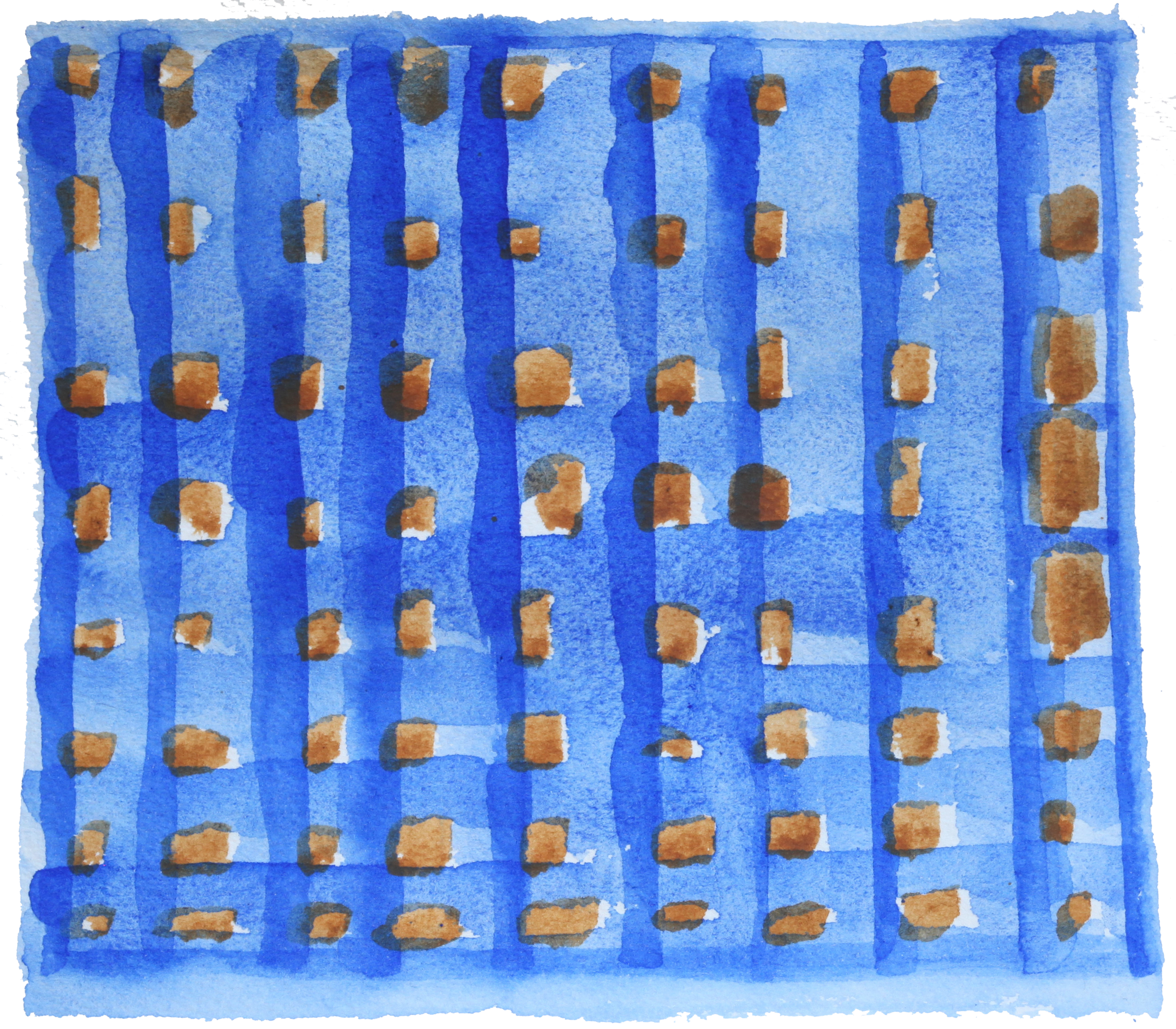 "Concurrences #31, 2015, Watercolor,  6.25"" x 7"""