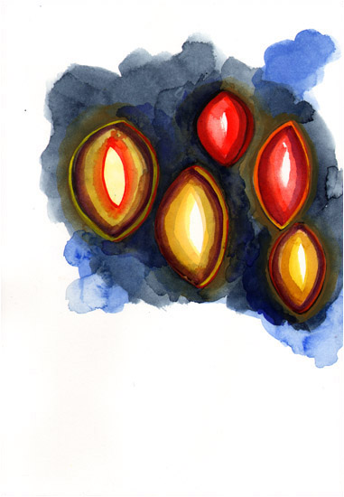 "Untitled, 2010, watercolor, 10 ¼"" x 7"""