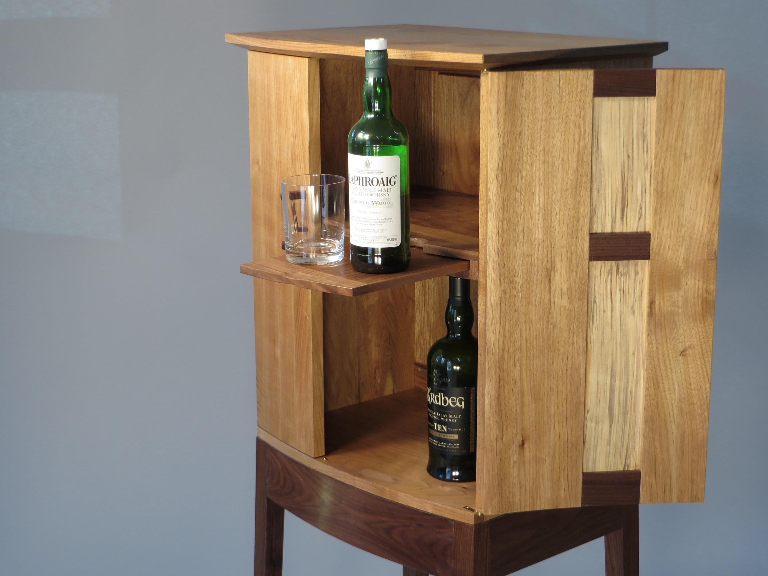 Butternut Whiskey Cabinet