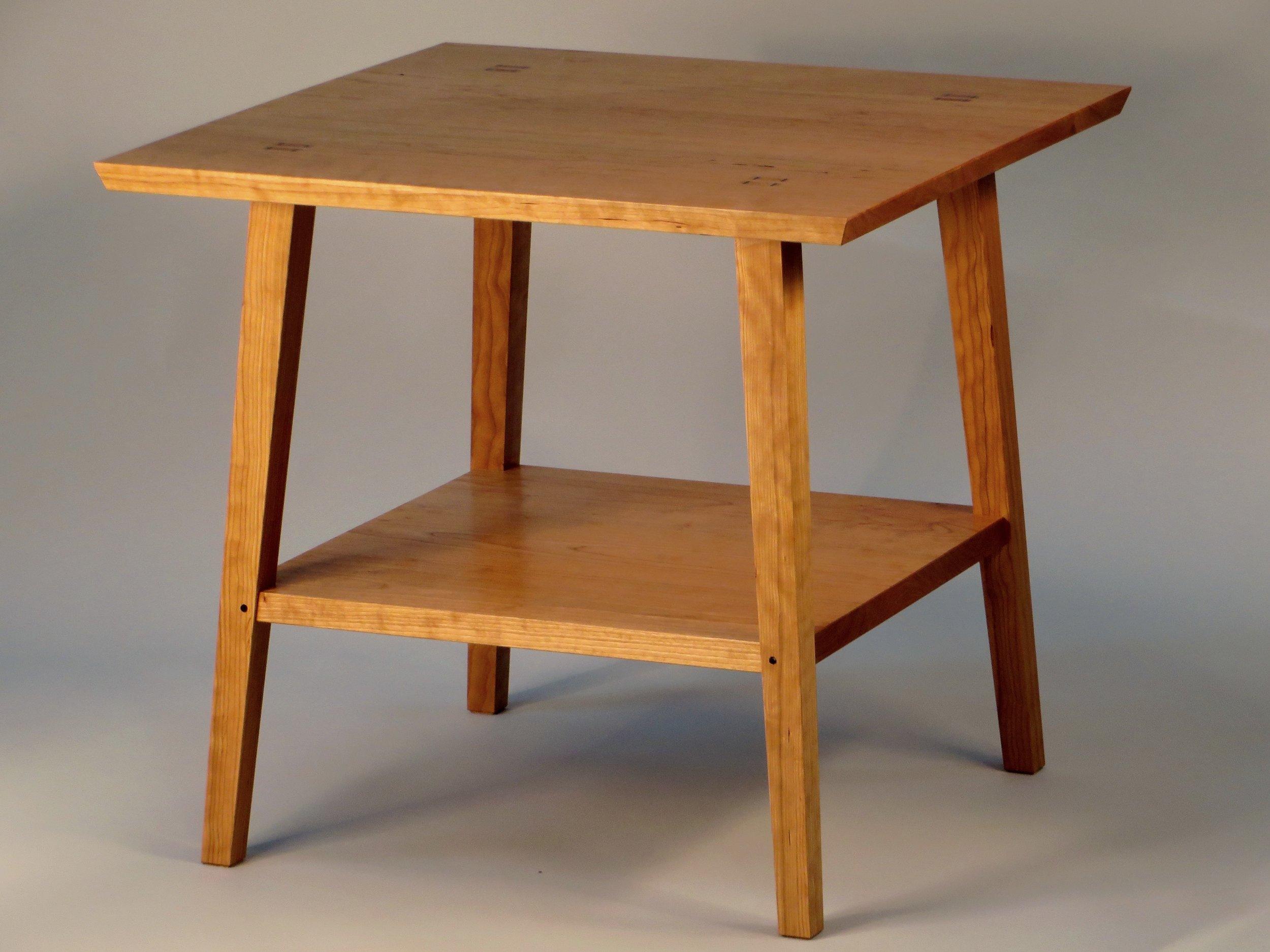 Closeup of a single table