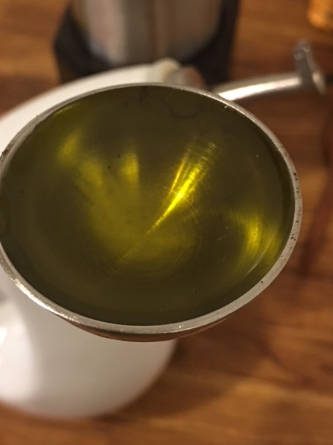 Measure out 2 Tpsp of Extra-Virgin Olive Oil.