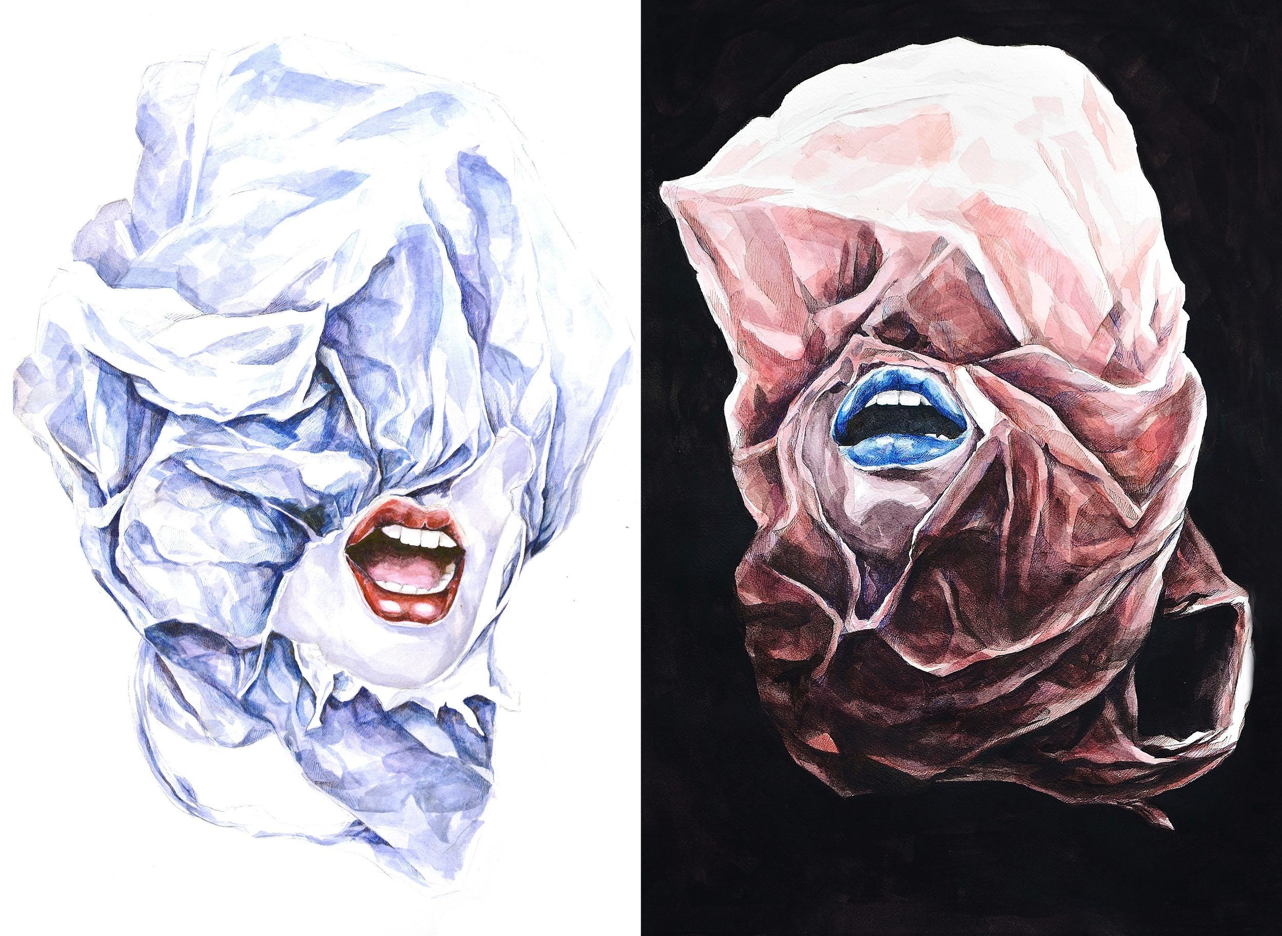 Plastic | Ink and watercolor on paper | 2014
