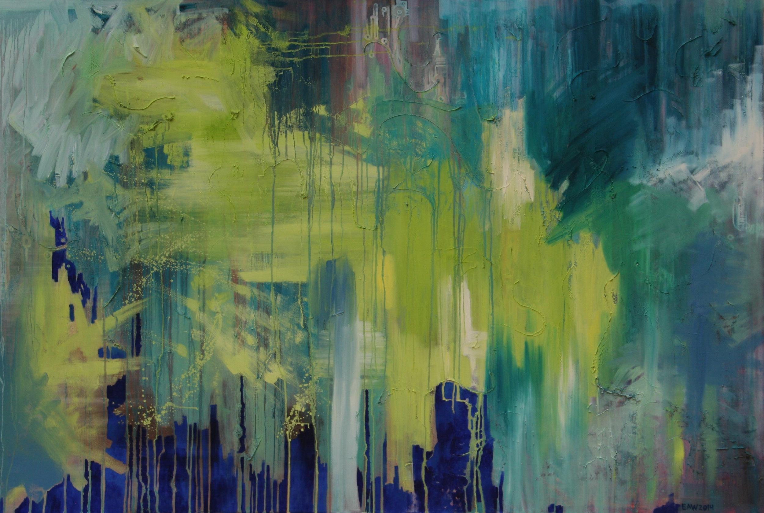 Unpredictable Hopes  4'x6' Oil on Canvas