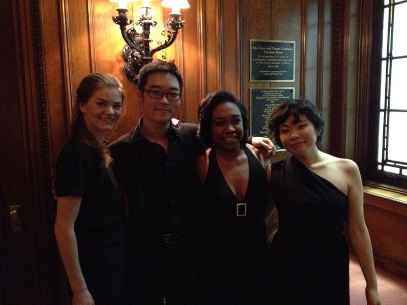 (l-r): Rebecca Anderson (violin),Eric Han (cello),Michelle Cann (piano),Ayane Kozasa (viola)