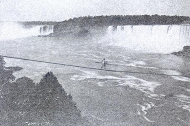 the Great Blondin over Niagara Falls