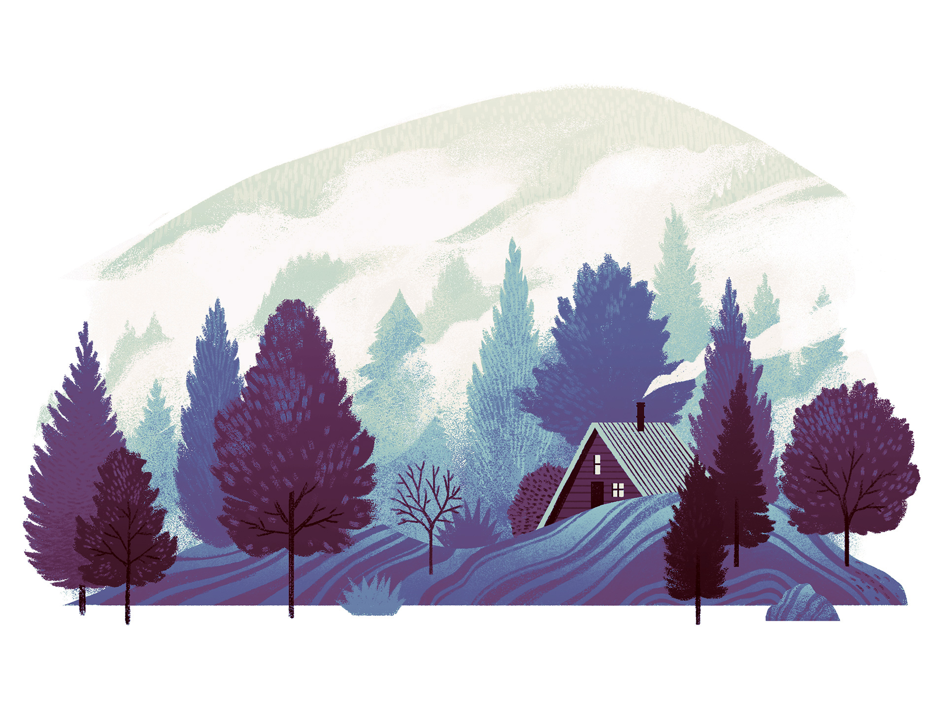 Applied-Arts-Calendar--December-Illustration--Cristian-Fowlie--Cabin-in-the-Woods.jpg