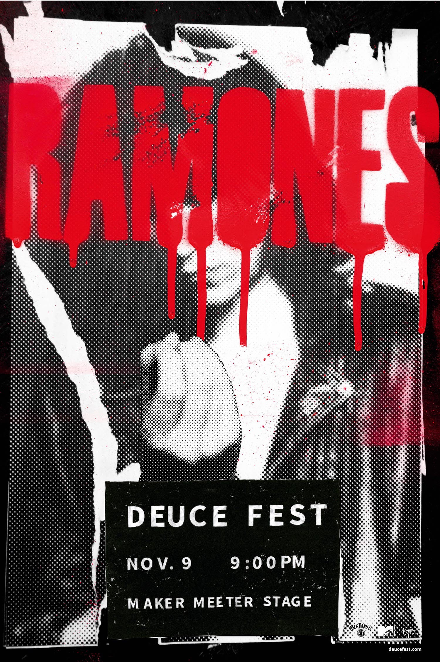 Ramones, Deuce Fest - illustrated poster by Rae Maher
