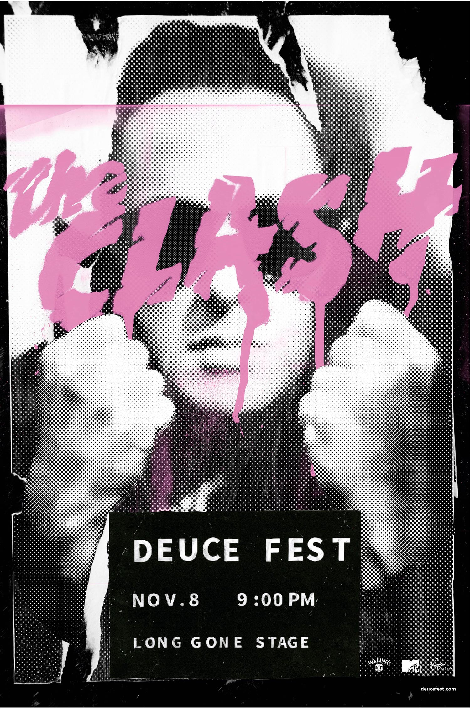 The Clash, Deuce Fest - illustrated poster by Rae Maher