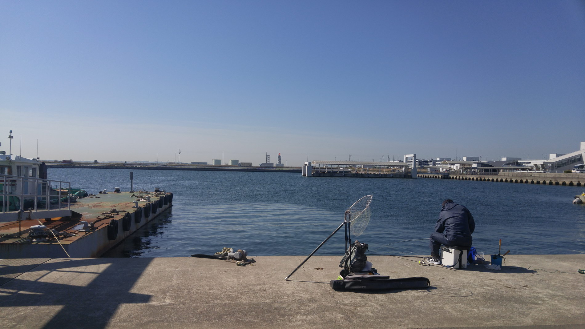The hotel harbor looking out to Nagoya airport