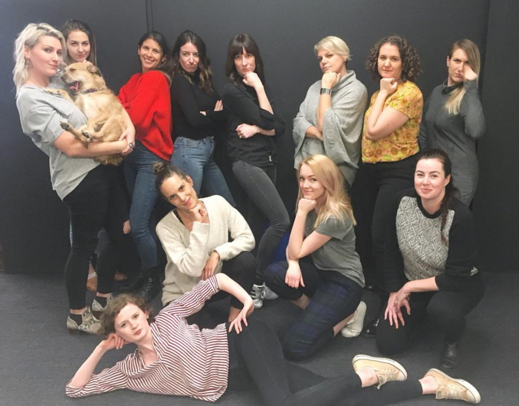 Group shot in honour of Women's day. (From the  Will Instagram )