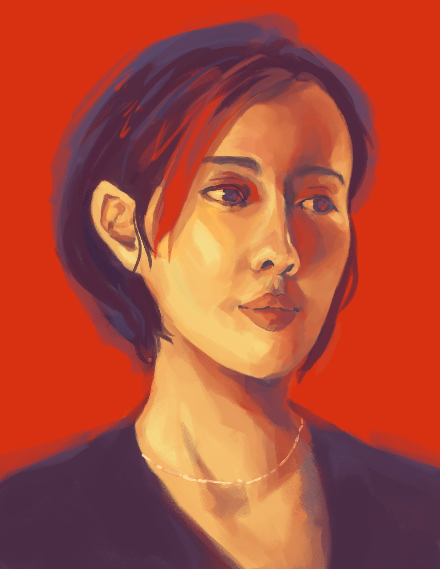 """Portrait in Red"" by Jennifer Panata"