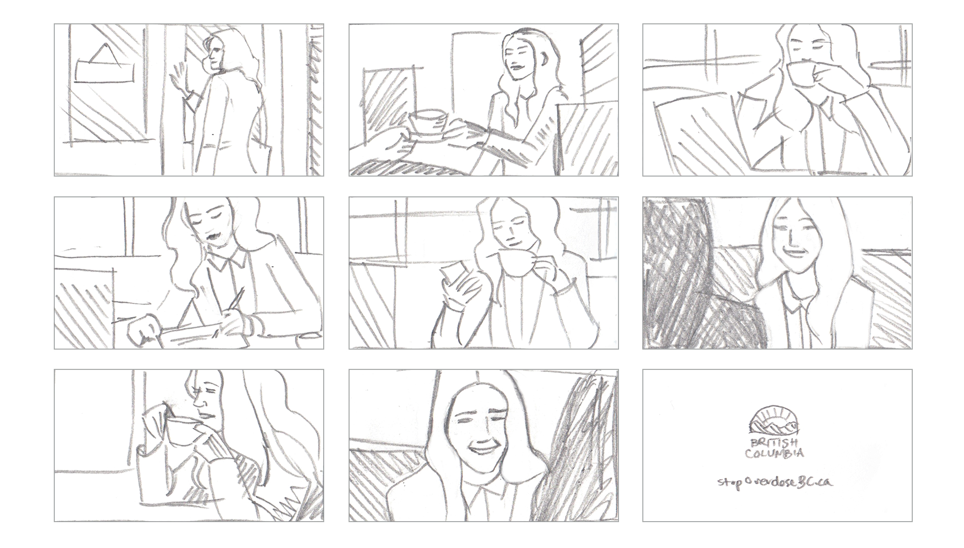 Stop Overdose Campaign Television Storyboard
