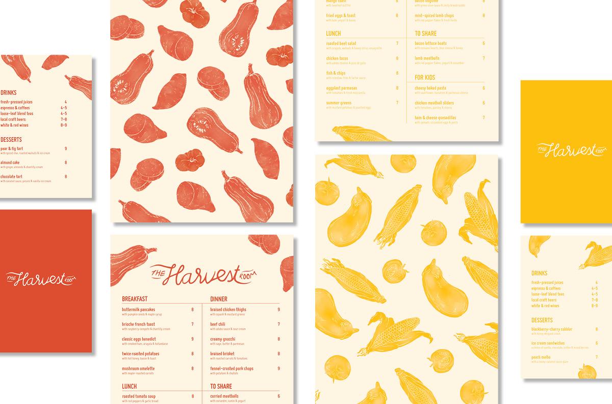 Food, drinks and desserts menu