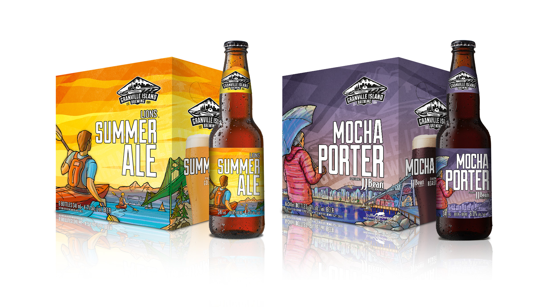 Granville Island Brewing: Packaging design / Illustration