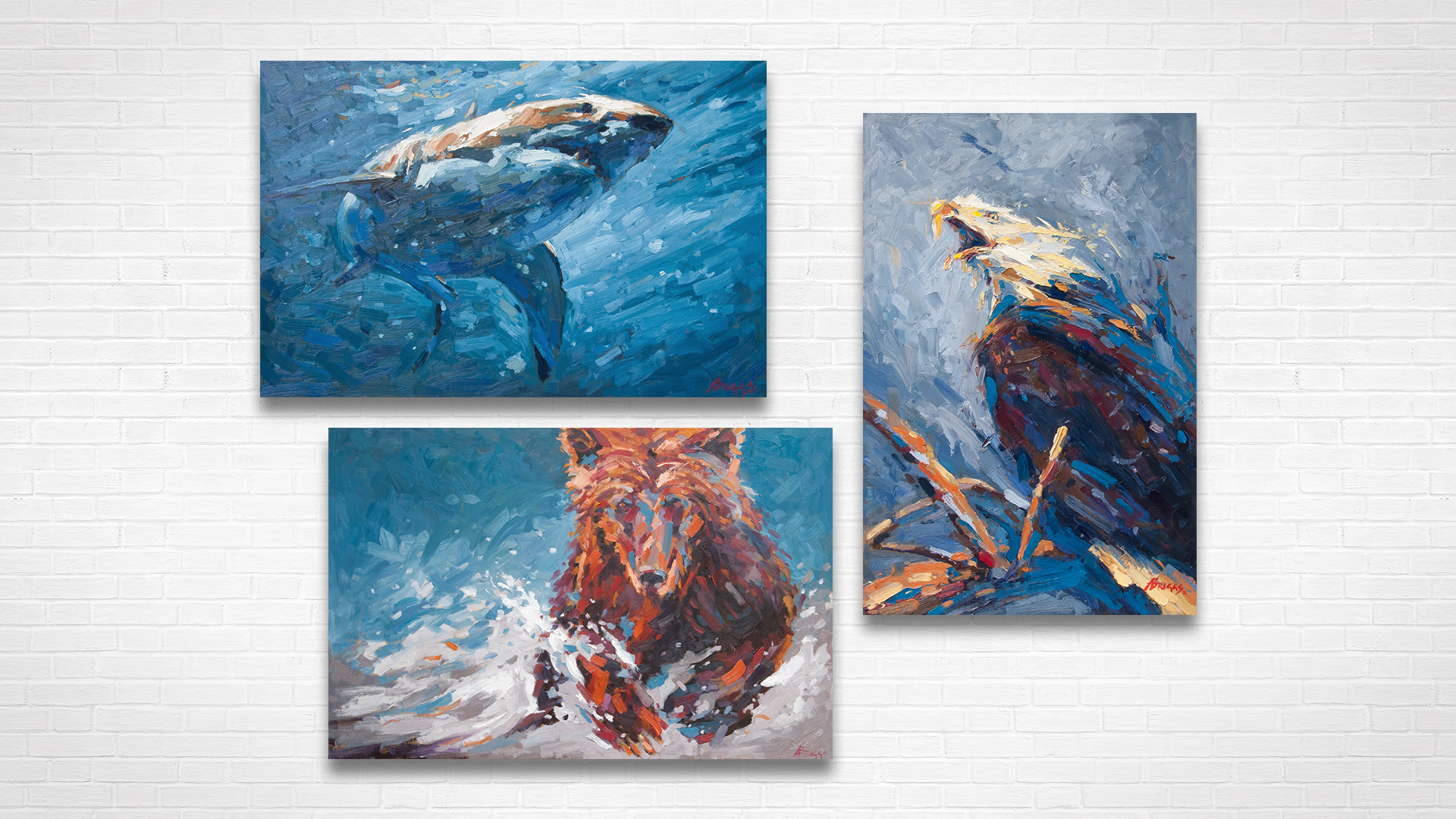 West Coast Wild: Oil painting series