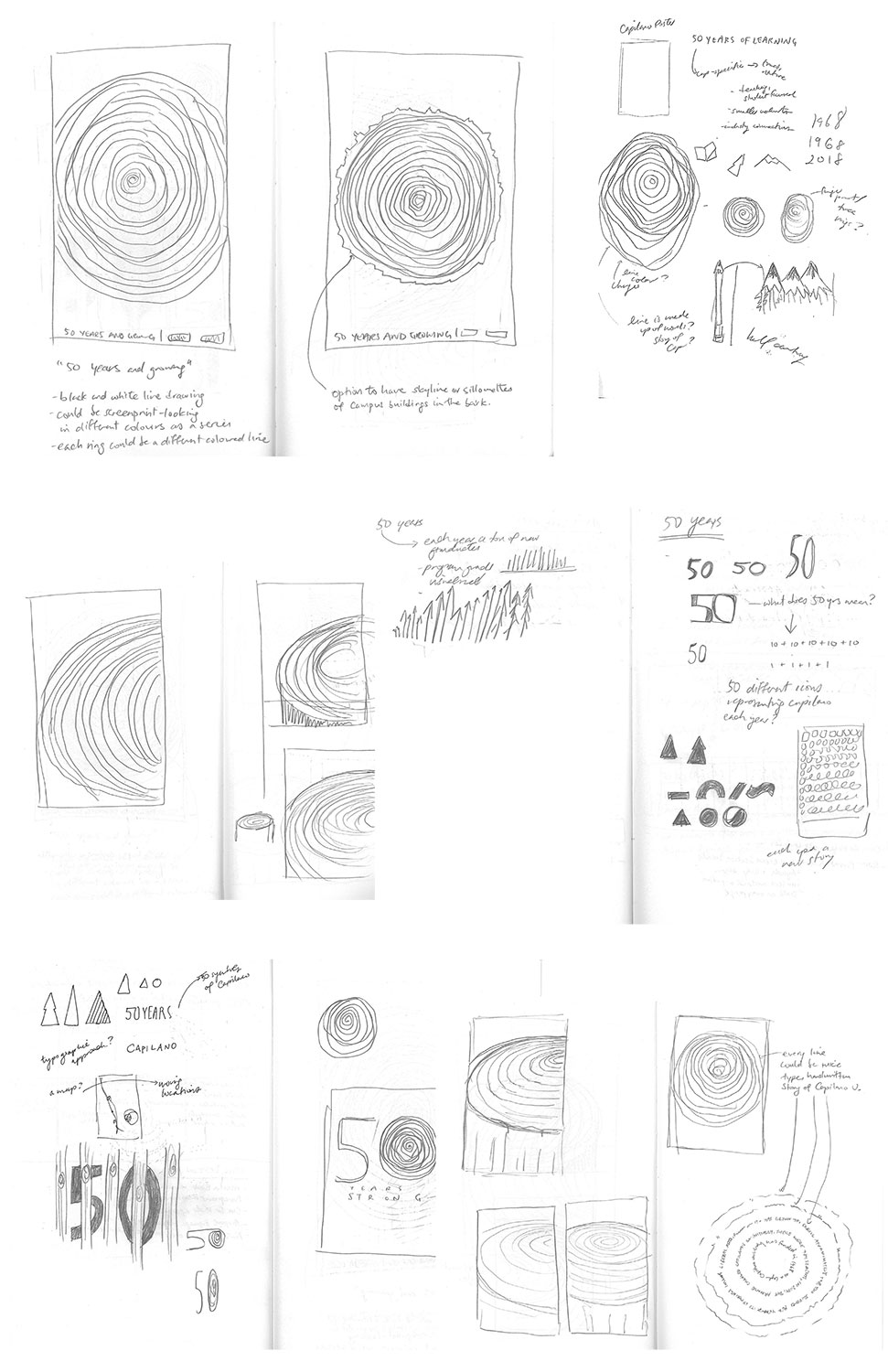 Process sketches