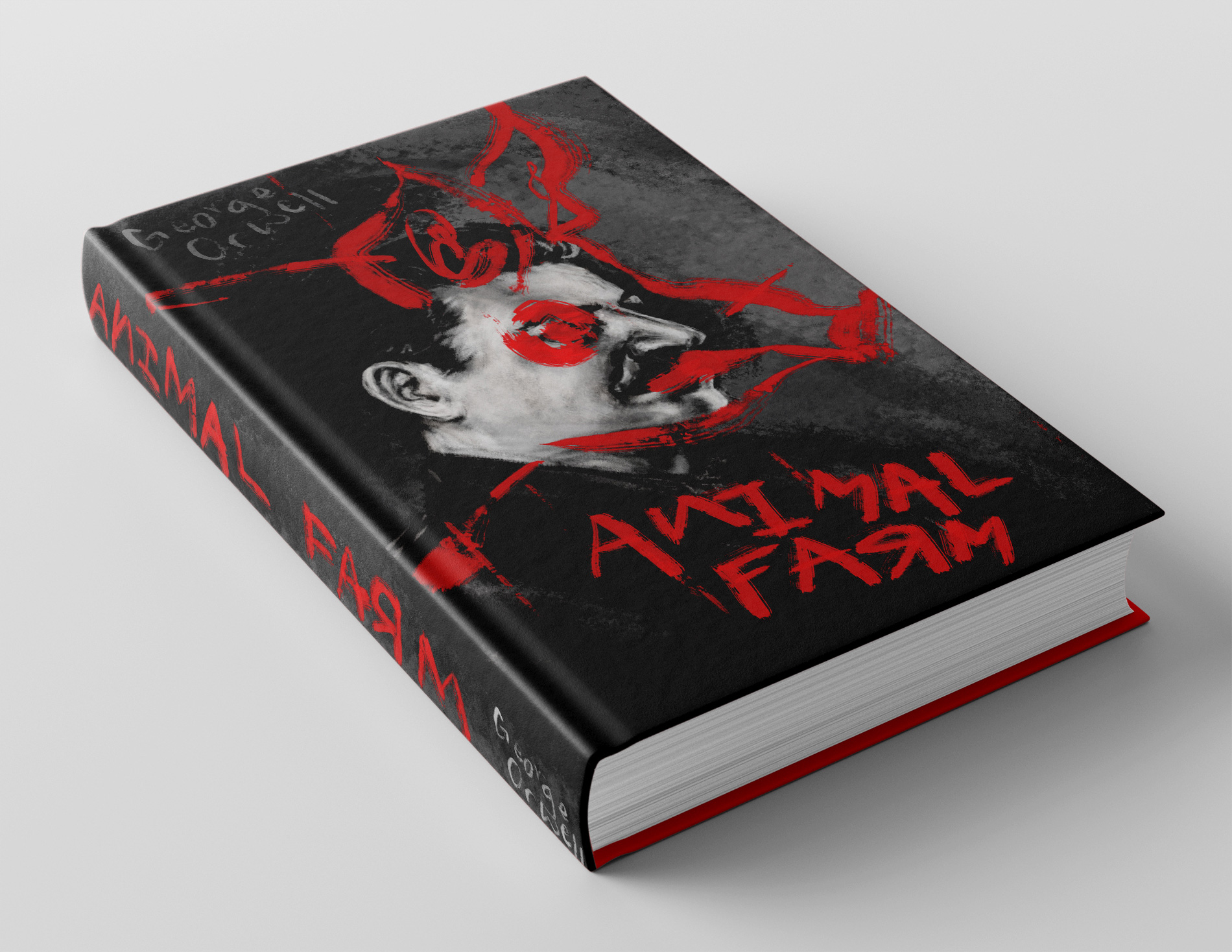 Sophie Young for Animal Farm - Book Cover Editorial & Book Design Merit