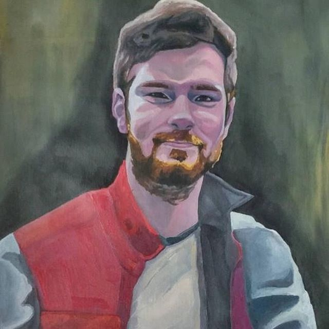 It's all about the process! Here's a beautiful portrait by @emmejae done in oil paints!