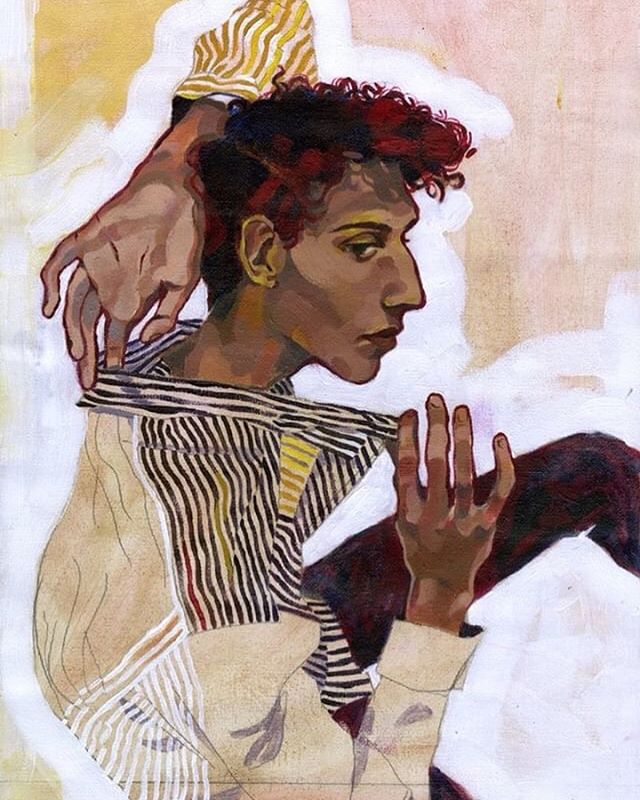 @egraceharris coming in hot with this expressionist portrait inspired by the style of Egon Schiele 🎨