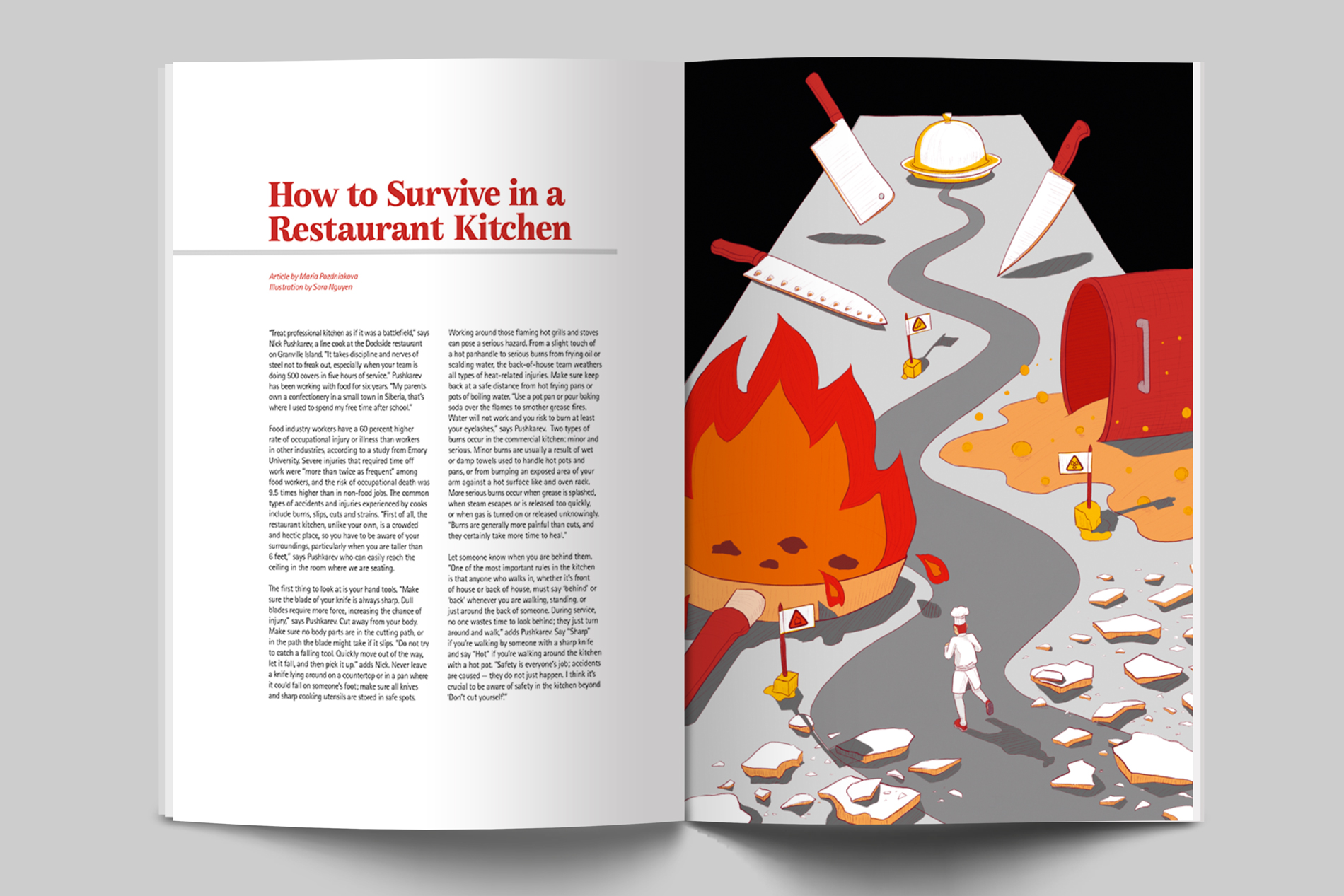 Sara Nguyen—How to Survive in a Restaurant Kitchen