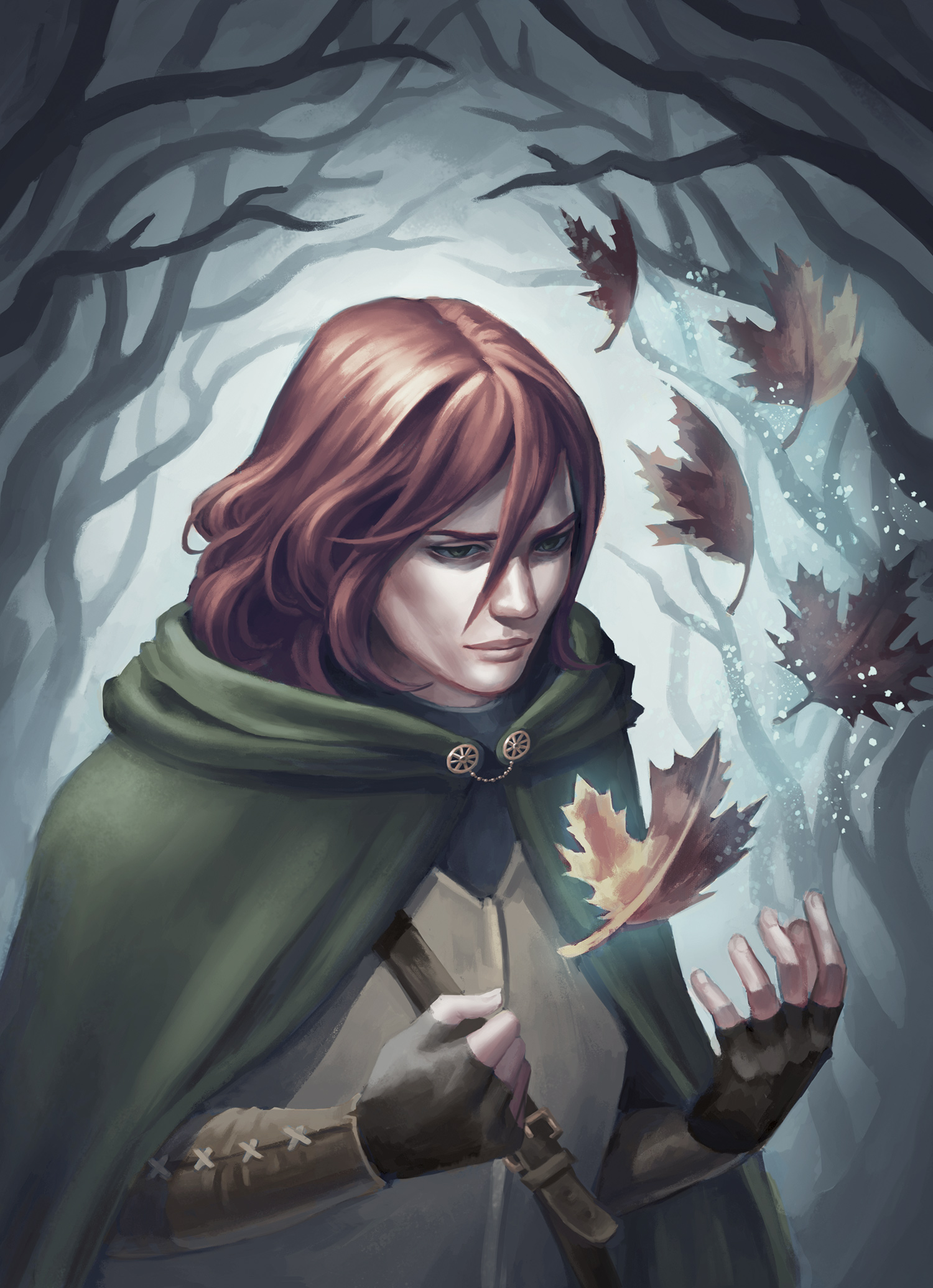 Kvothe from the Kingkiller Chronicle book series by Patrick Rothfuss. Digital painting by Abbey Johnson (IDEA16)