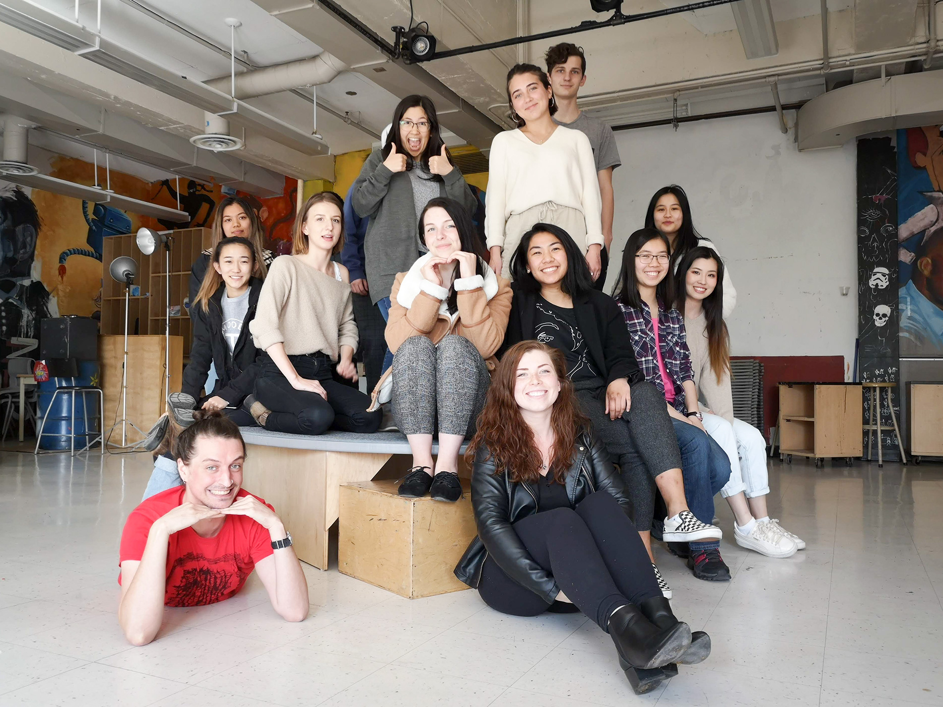 Most of the class of 2022 at IDEA School of Design
