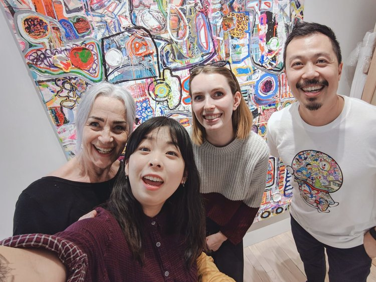 Carla Tak, Aiken Lao, Me, and Carson Ting. Her artwork is amazing!