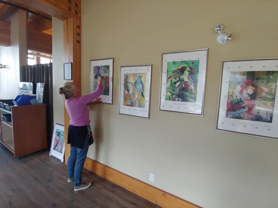 Installing the summer exhibit