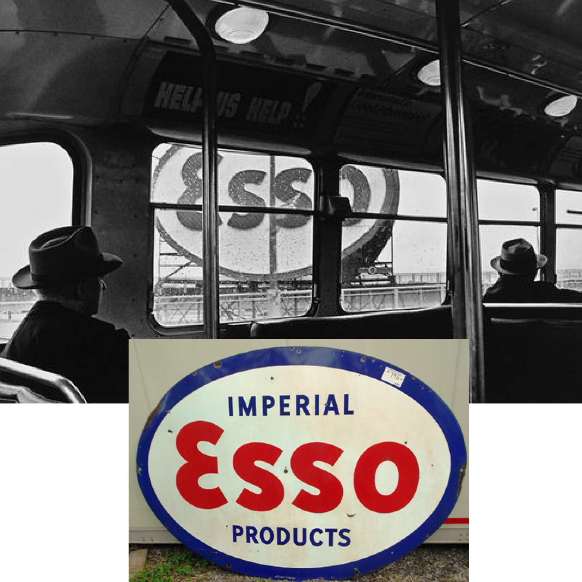 Logo influences - ESSO sign when I was a young kid