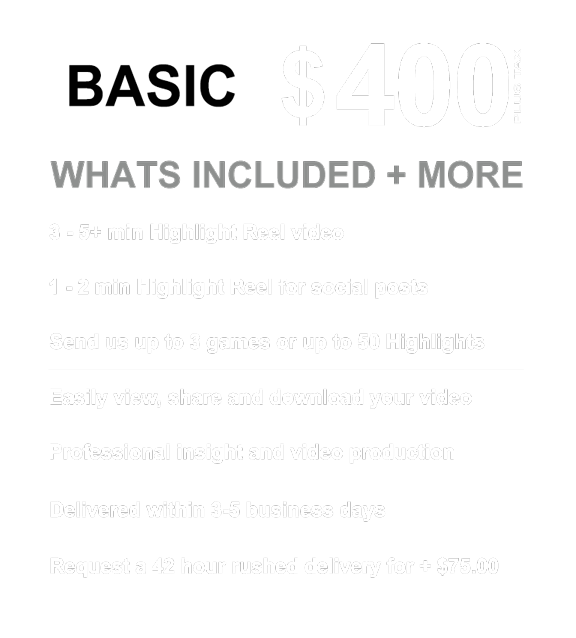 """Highlight Reel Pricing  The way to get recruited in 2019 is with professional game footage and Highlight Reel recruitment videos. University coaches and college coaches often request Game Footage when recruiting soccer players. We 're able to provide highlight reel recruitment video services to any soccer player in Canada + the world. We film soccer game footage in the Ontario Soccer Association leagues + more. Ask us how to make a Highlight Reel or how to film soccer games.  [soccer recruitment]""""soccer recruitment""""""""soccer Highlight Real""""""""soccer highlight video maker""""""""Make a good soccer Highlight Reel""""[Soccer Video Reel][soccer recruitment video services]""""soccer recruitment services""""""""soccer video services""""""""get recruited soccer""""""""soccer highlight reel""""""""soccer highlight reel video""""[How make a soccer Highlight tape][soccer recruitment services][talentreel]""""online Soccer Recruitment""""""""soccer recruitment video services""""""""soccer video recruitment""""""""canada soccer recruiting""""""""ottawa Soccer Recruiting""""""""recruiting reels""""""""How make a soccer Highlight video""""""""Soccer Video Reel""""""""toronto Soccer Recruiting""""""""hudl soccer""""[soccer video services]""""soccer recruitment video""""[TalentReel][TalentReel Productions]""""How make a soccer Highlight tape""""""""how to make a Soccer Highlight Reel on hudl""""""""soccer recruiting websites""""""""online soccer recruiting""""""""How to make a soccer Highlight Reel""""[How to make a soccer Highlight Reel][soccer Highlight Real][soccer video recruitment]"""