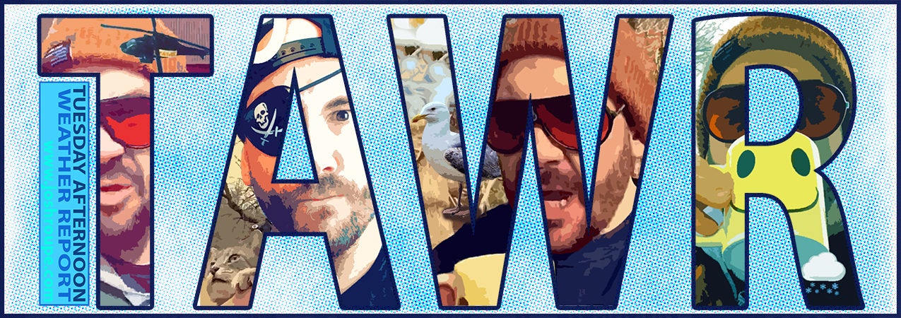 """Tuesday Afternoon Weather Report  was a weekly web-series that ran on my social media every Tuesday afternoon  [2017-2019 ]. In each episode, I would report the weather for my immediate area thru a series of gimmicks and absurd premises. The entire show was also shot in a vertical """"selfie-mode"""" format which added to the limitations of producing it. I enjoyed the exercise of improvising something creative and putting it out there every week but I eventually had to discontinue the series because it was becoming too time-consuming and I felt that it had run its course. Will it ever return?—Perhaps someday but in the meanwhile,   here's an archive of past episodes  .."""