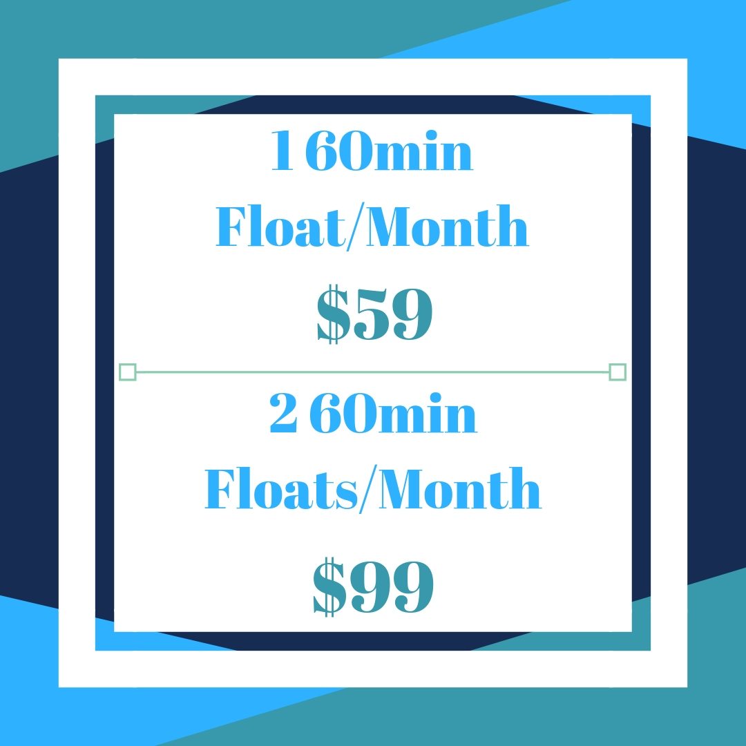 Memberships-Additional Floats Are All $20 off- - Members also get 10% off all retail items, and a free float to share with a friend every month. 90 minute memberships also available.