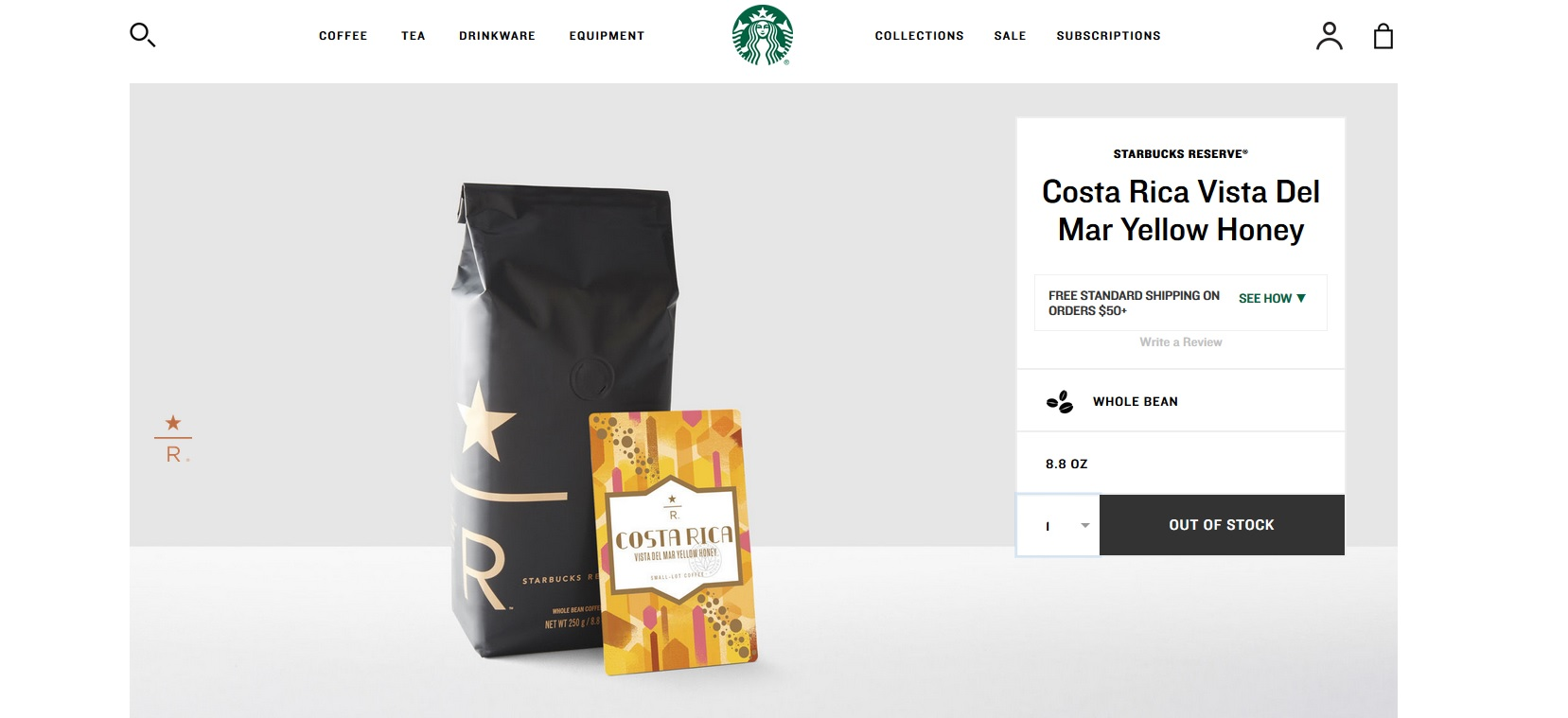 screen cap cost rica vista del mar yellow honey on starbucksstore 2017 Jan 17.jpg