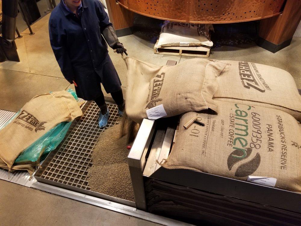2017 December 01 Panama Carmen Estate green coffee loading pit.jpg