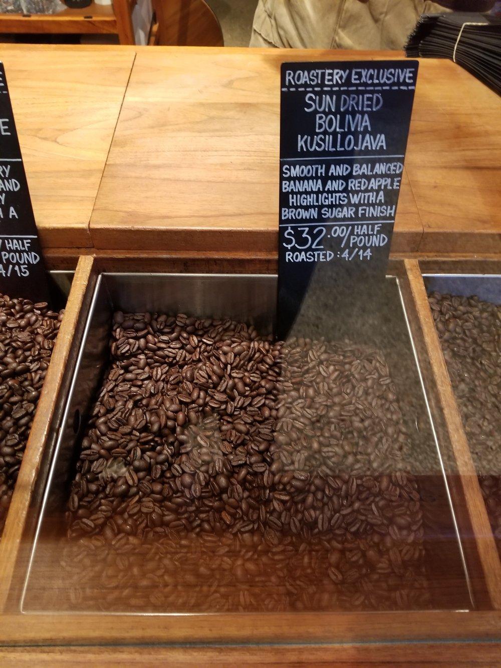 16 april 2018 Boliva whole bean on scoop bar.jpg